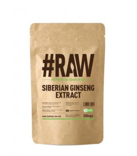 RAW Siberian Ginseng Extract 500mg 120caps