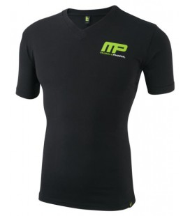 Musclepharm Mens V-Neck T-Shirt Logo MP - Black