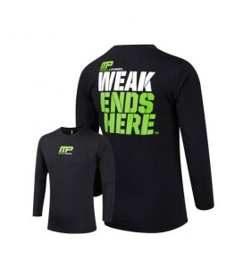 Musclepharm Mens Rashguard IS Weak Ends - Black
