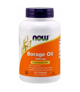 NOW FOODS Borage Oil 1000mg 120 softgels