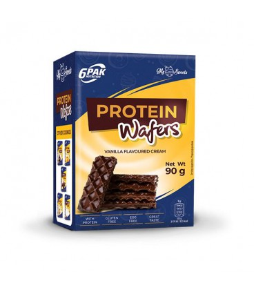 6PAK Nutrition Protein Wafers Choco Coating 90g