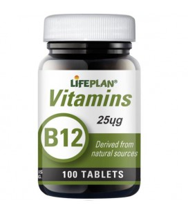 Lifeplan Vitamin B12 25mcg 100tab