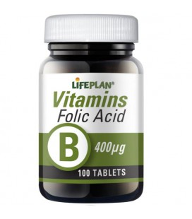 Lifeplan Folic Acid 400mcg 100tab