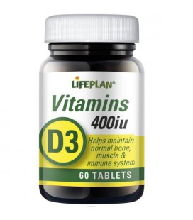 Lifeplan Vitamin D 400IU 60tab