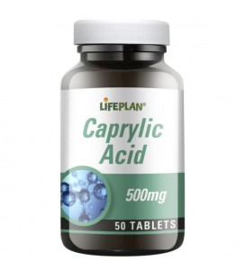 Lifeplan Caprylic Acid 500mg 50tab