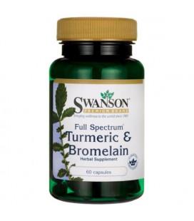 Swanson Full Spectrum Turmeric & Bromelain 60caps