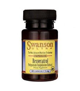 Swanson Resveratrol Polygonum Cuspidatum Extract 5mg 60caps
