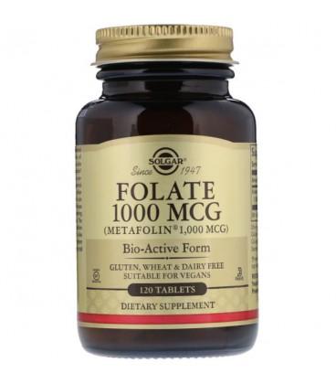 SOLGAR Folian 1000mcg (Metafolin) 120 tab