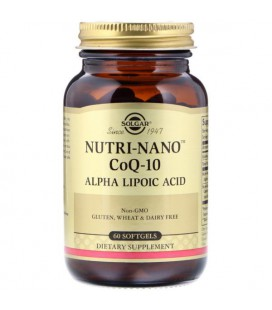 Solgar Nutri-Nano CoQ-10 Alpha Lipoic Acid, 60 Softgels
