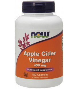 NOW FOODS APPLE CIDER VINEGAR 450 MG 180 CAPS