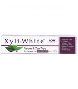NOW FOODS XYLIWHITE NEEM & TEA TREE TOOTHPASTE 181g