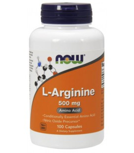 NOW FOODS ARGININE 500MG 100 CAPS