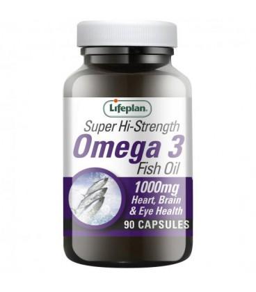 Lifeplan Omega 3 Fish Oil 1000mg 90kaps