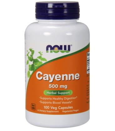 NOW FOODS CAYENNE 500mg 100 VCAPS