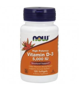 NOW FOODS VIT D-3 5000IU 120 SGELS