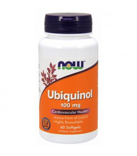 NOW FOODS UBIQUINOL 100MG 60 SGELS