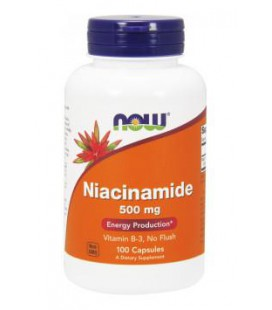 NOW FOODS Niacinamide 500 mg 100 kaps.