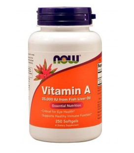 NOW FOODS VITAMIN A 25000 IU 250 SGELS