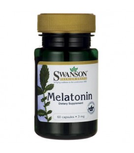 Swanson Melatonina 3mg 60 kaps.