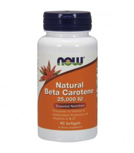 NOW Natural Beta Carotene 25000 IU 90sgels