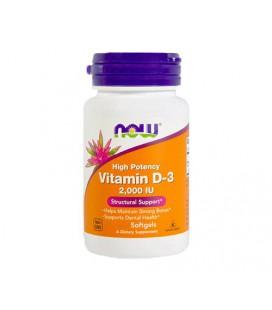 NOW FOODS Vitamin D-3 2000 IU 240 SGELS