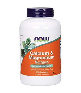 NOW FOODS Calcium & Magnesium 120softg