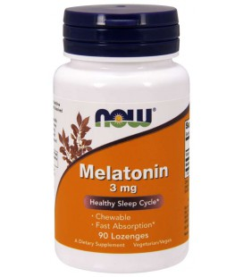 NOW FOODS MELATONIN 3mg 90tabletek do ssania