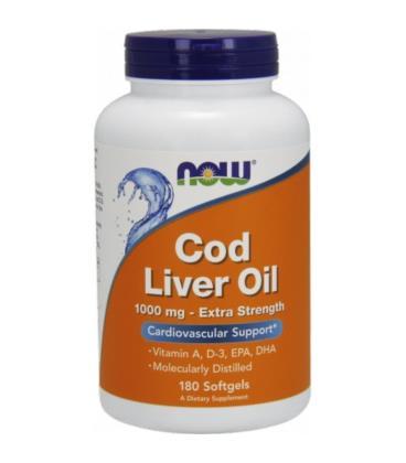 NOW FOODS Cod Liver Oil 1000mg 180 softgels