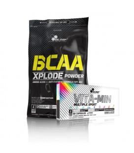 Olimp BCAA Xplode 1000g + Olimp Vita-Min Multiple 60kap