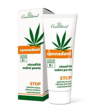 Cannaderm CANNADENT 5% Konopna Pasta do Zębów 75g