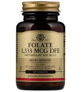 Solgar Folate 800mcg (as metafolin) 100 tab