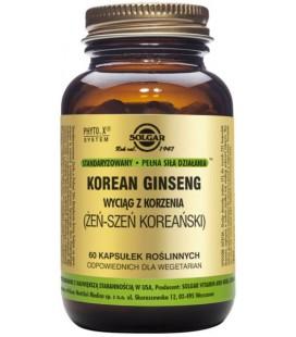 Solgar Żeń-Szeń Koreański SPSD Korean Ginseng 60 kapsułek