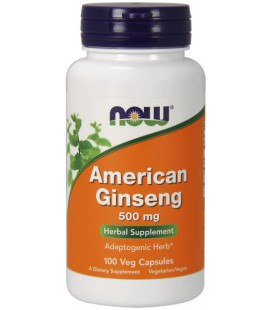 NOW FOODS AMERICAN GINSENG 500 mg  100 VCAPS