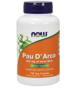 NOW FOODS PAU D' ARCO 500mg  100 VCAPS