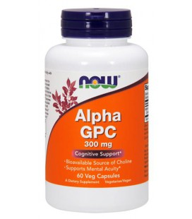 NOW FOODS ALPHA GPC 300MG 60 VCAPS