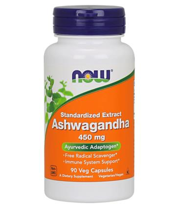NOW FOODS ASHWAGANDHA EXT 450MG 90 VCAPS