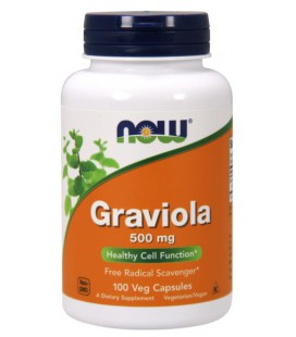 NOW FOODS GRAVIOLA 500MG 100 VCAPS