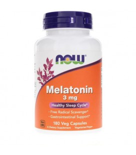 NOW FOODS MELATONIN 3mg 180 VCAPS