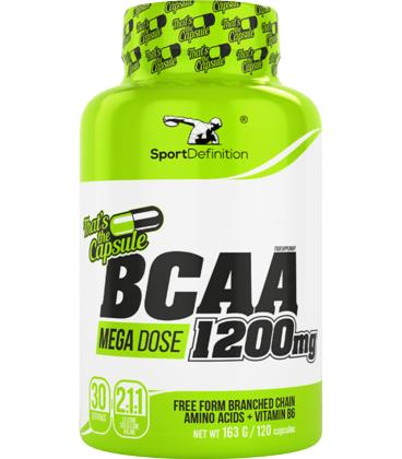 Sport Definition BCAA 1200mg Thats the capsule 120caps