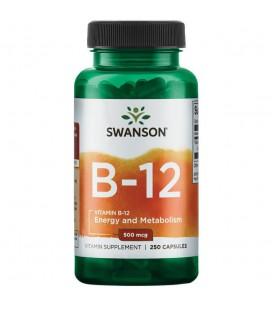 Swanson Vitamin B12 500mcg 250 kaps.