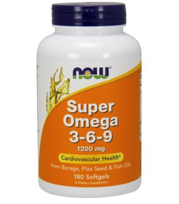NOW FOODS SUPER OMEGA 3-6-9 1200MG 180 SGELS