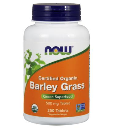 NOW FOODS BARLEY GRASS 500mg ORG 250 TABS