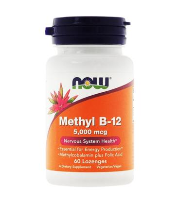 NOW FOODS METHYL B-12 5000mcg 60 Pastylek