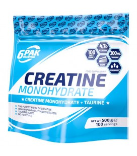 6PAK CREATINE MONOHYDRATE 500g