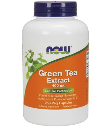 NOW FOODS GREEN TEA EXTRACT 400 mg 250 VCAPS