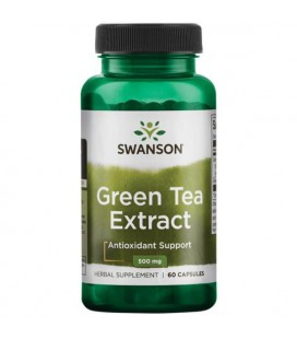 Swanson Green Tea Extract 500mg 60 kaps.