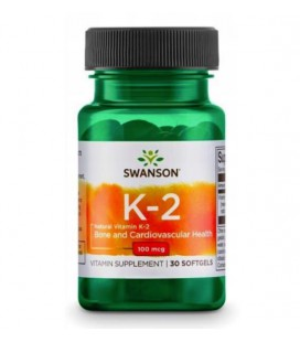 Swanson Vitamin K-2 Menaquinone-7 from Natto 100mcg 30softgels