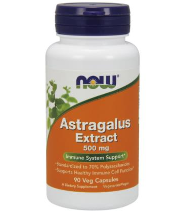 NOW FOODS ASTRAGALUS 70% EXT 500MG 90 VCAPS