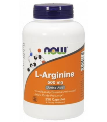 NOW FOODS ARGININE 500MG 250 CAPS