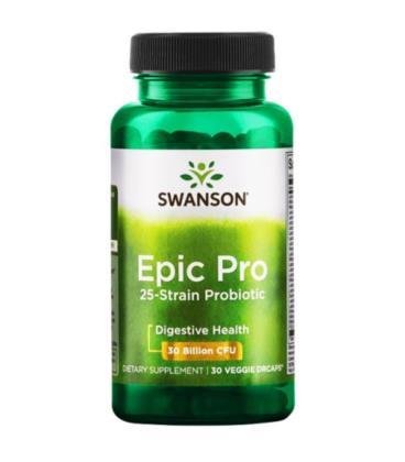 Swanson Epic Pro 25-Strain Probiotic 30 vcaps